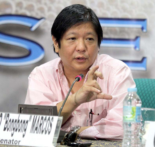 "Sen. Ferdinand ""Bongbong"" Marcos Jr. has said he supports same-sex marriage. Photo from senate.gov.ph"
