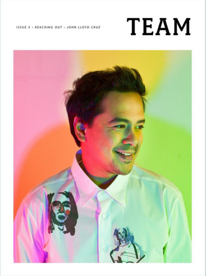 John Lloyd Cruz graces the cover of TEAM Magazine. Photo from TEAM official Instagram account (@teammag)