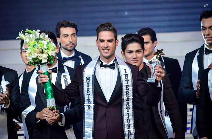 Mr. Intertional 2015 Pedro Mendes. Photo from the Mr. International Facebook page.